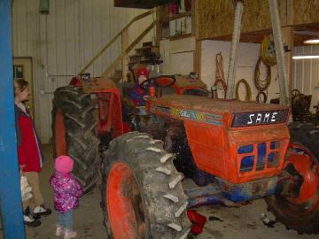 After getting the tractor back together.